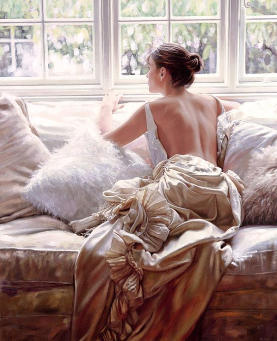 Romantic By Rob Hefferan, Realistic Oil Painting
